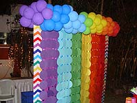 Rainbow theme Rainbow themed hand made banner